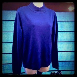 Laura Scott brand blue turtleneck sweater size med